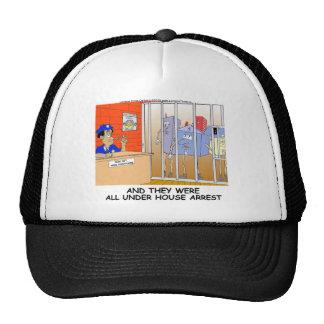 House Arrest Funny Police Mugs Tees Cards Gift Etc Trucker Hat