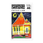 House Art Postage Stamp