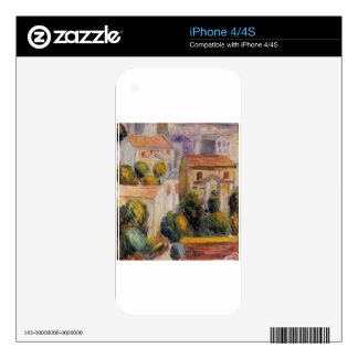 House at Cagnes by Pierre-Auguste Renoir Decal For iPhone 4