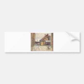 House at Dusk by Laszlo Mednyanszky Bumper Sticker