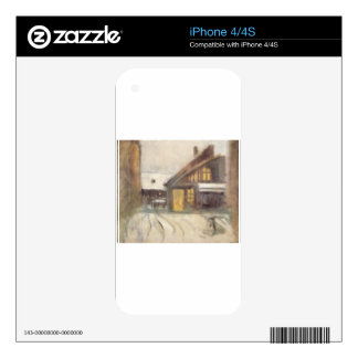 House at Dusk by Laszlo Mednyanszky Decal For iPhone 4