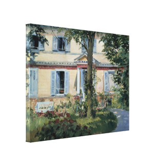 House at Rueil by Edouard Manet Stretched Canvas Prints