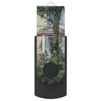 House at Rueil by Edouard Manet Flash Drive
