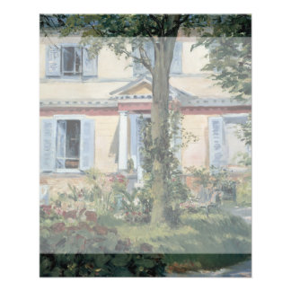 House at Rueil by Edouard Manet Flyer