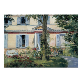 House at Rueil by Edouard Manet Invitations