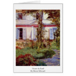 House At Rueil By Manet Edouard Greeting Cards