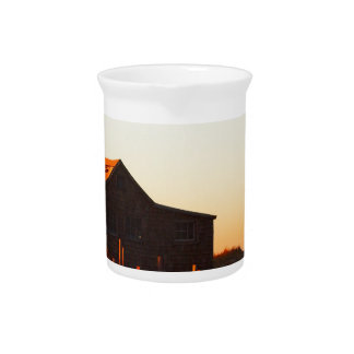 House at Sunset - 1 Beverage Pitcher