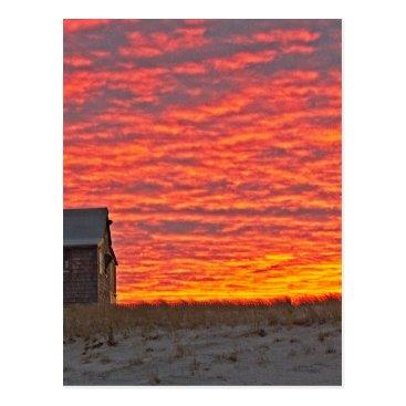 Beach Themed House at Sunset - 2 Postcard