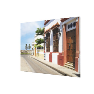 House at the roadside canvas print