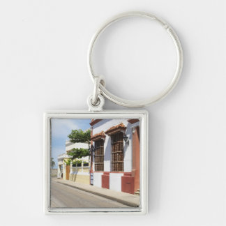 House at the roadside keychain
