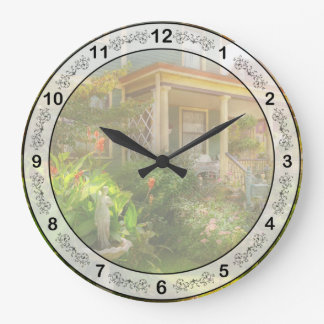 House - Bevidere NJ - Country garden Large Clock