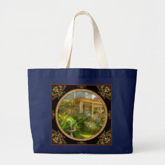 House - Bevidere NJ - Country garden Large Tote Bag