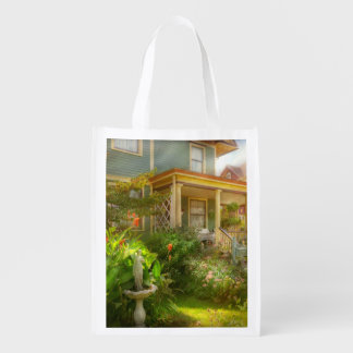 House - Bevidere NJ - Country garden Reusable Grocery Bag