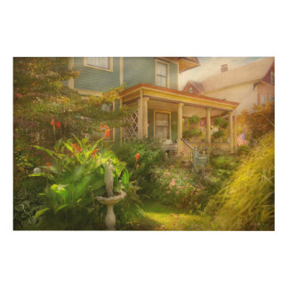 House - Bevidere NJ - Country garden Wood Wall Art