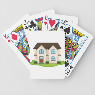 house bicycle playing cards