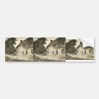 House birthplace Millet by Jean-Francois Millet Bumper Stickers