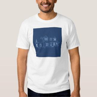 House: Blue Print Drawing: T Shirt