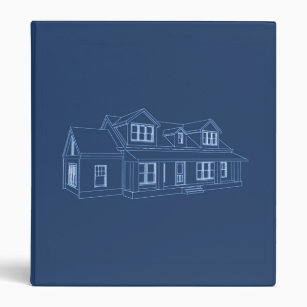 Personalize your own blueprint binder stay organized today zazzle house blueprint custom binder malvernweather Gallery