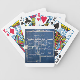 House Blueprints Bicycle Playing Cards