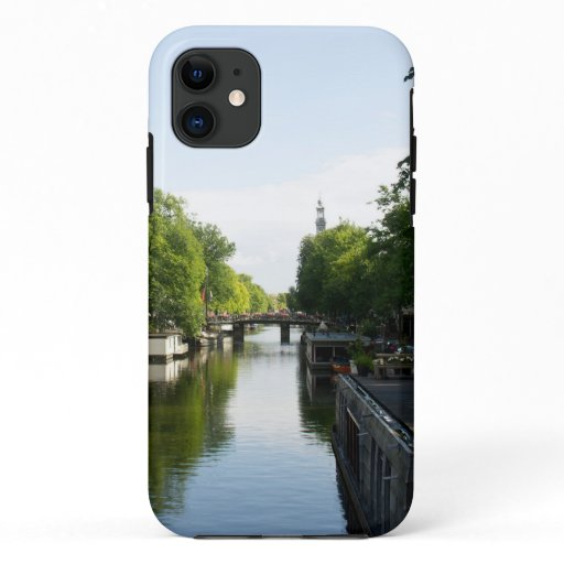 House boats Amsterdam Canal Holland Europe iPhone 11 Case