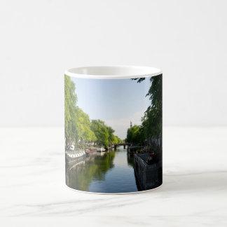 House Boats on Amsterdam Canal Coffee Mug