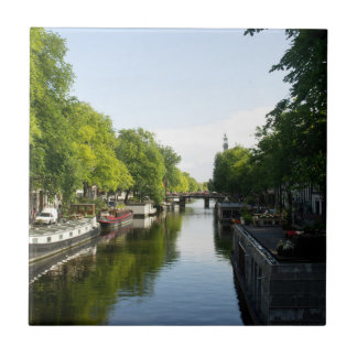House Boats on Amsterdam Canal Tiles