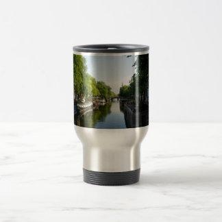 House Boats on Amsterdam Canal Travel Mug
