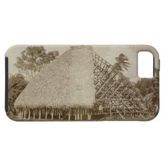 House Building in Samoa, c.1875 (sepia photo) iPhone SE/5/5s Case