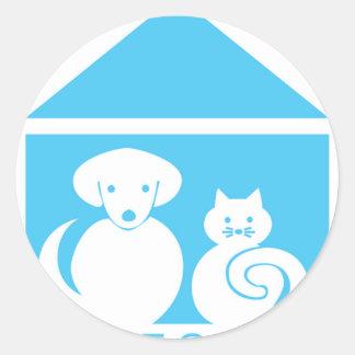 House Calls = Happy Pets Classic Round Sticker