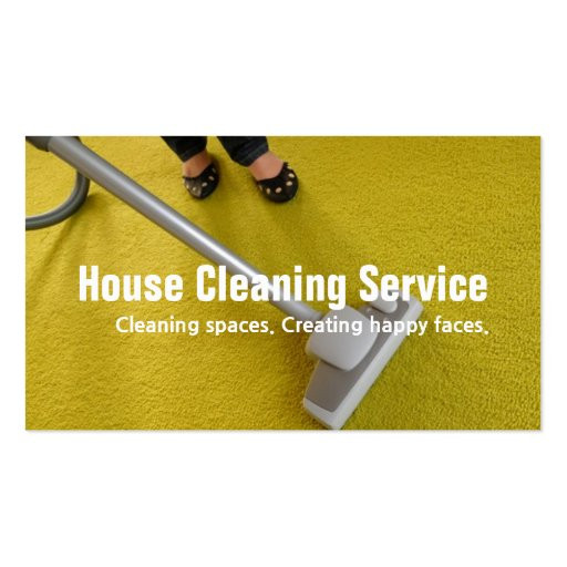 House Carpet Rugs Cleaning Housekeeper Maid Business Card