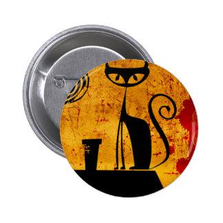 House Cat 2 Inch Round Button