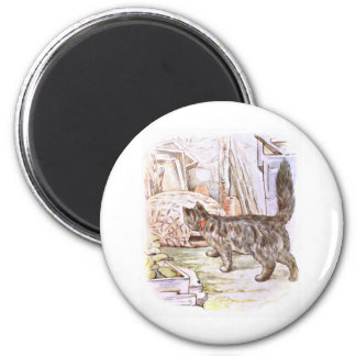 House Cat Acting Curious Artwork Magnet
