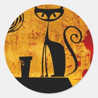 House Cat Classic Round Sticker