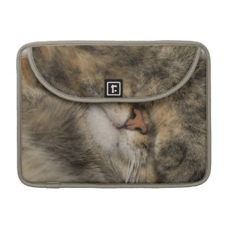 House cat covering eyes while sleeping sleeve for MacBooks