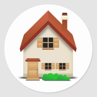 House Classic Round Sticker