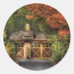 House - Classy Garage Classic Round Sticker
