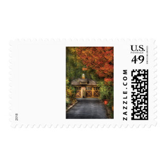 House - Classy Garage Postage Stamps