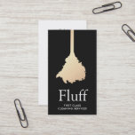 """House Cleaner Gold Feather Duster Cleaning Service Business Card<br><div class=""""desc"""">Simple gold vector illustration of feather duster. For additional matching marketing materials,  custom design or logo inquiry,  please contact me at maurareed.designs@gmail.com and I will reply within 24 hours. For shipping,  cardstock inquires and pricing contact Zazzle directly.</div>"""