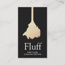 House Cleaner Gold Feather Duster Cleaning Service Business Card