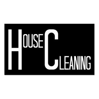House Cleaning Black and White Double-Sided Standard Business Cards (Pack Of 100)