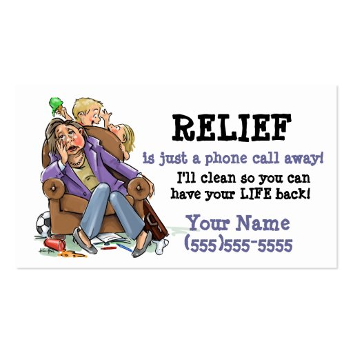 House cleaning business card 2 Double Sided standard