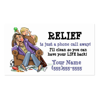 House cleaning business card_2 Double-Sided standard business cards (Pack of 100)
