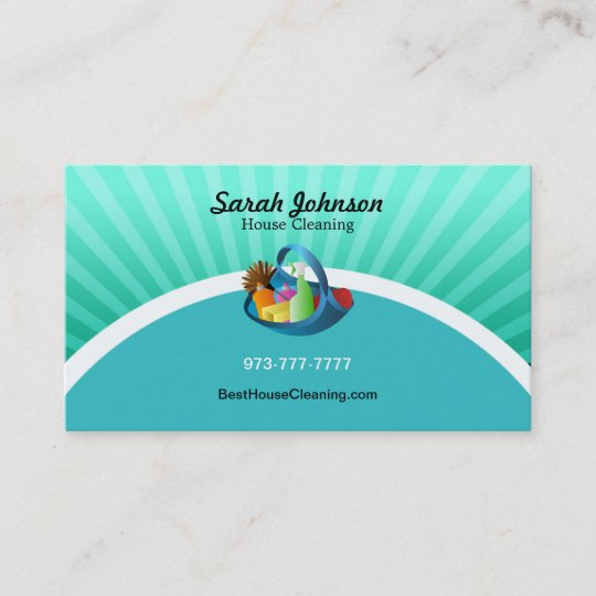 House cleaning business card template zazzle house cleaning business card template accmission Image collections