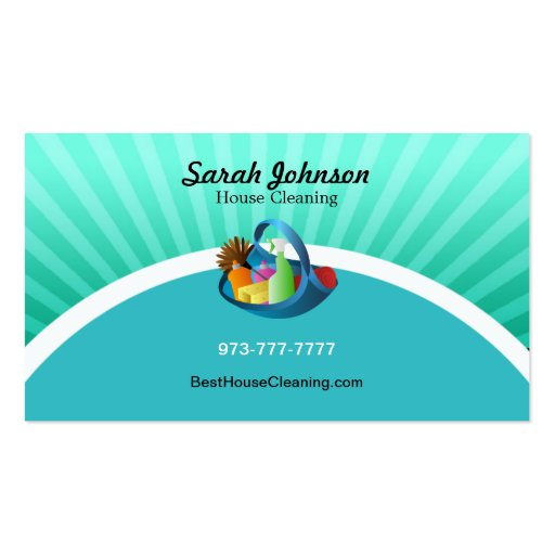 Housekeeper business cards bizcardstudiocom for House cleaning business cards templates