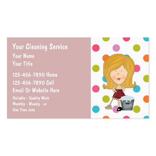 house cleaning business cards templates
