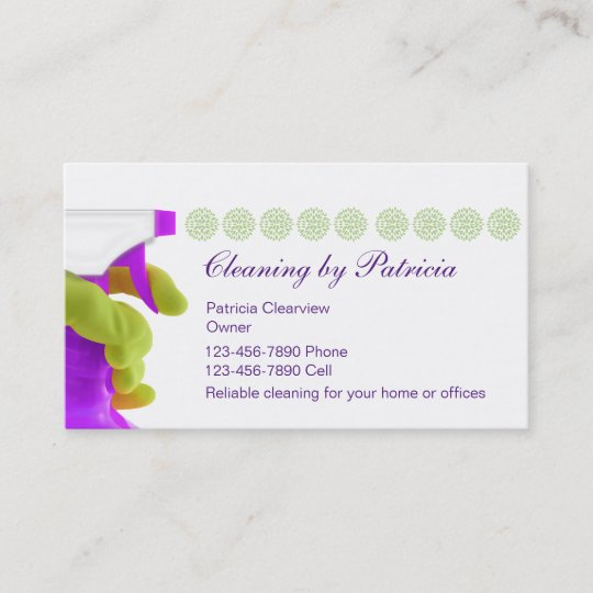 House cleaning business cards zazzle house cleaning business cards reheart Gallery