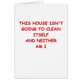 house cleaning greeting card