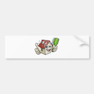 House Cleaning Cartoon Character Bumper Sticker