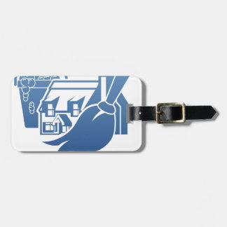 House Cleaning Concept Luggage Tag