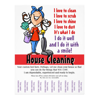 """House Cleaning Custom Promotional 8.5"""" X 11"""" Flyer"""